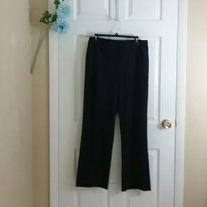 Lafayette 148 High Waist Wool Blend Black Pants